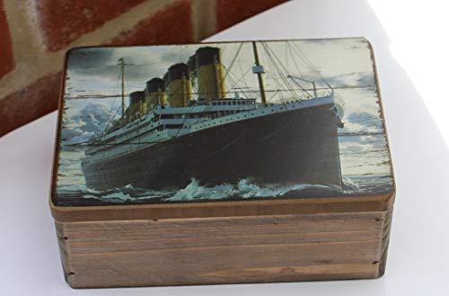 Schmuckkästchen Titanic, Holz, Used-Look