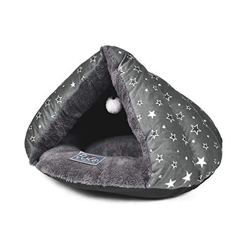 PETCUTE Cama Cueva para Gatos Cama para Gato Cama de Gato para Mascotas Saco de Dormir de Gato Suave