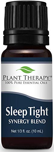 Plant Therapy Sleep Tight Synergy Essential Oil 10 mL (1/3 oz) 100% Pure, Undiluted, Therapeutic Grade -