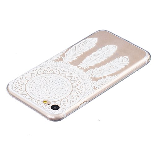 Custodia per iPhone, motivo: iPhone Case creativo colorato design Gel TPU per cellulare trasparente Soft Case Cover Custodia TPU Bumper rigida protegge da sporco e graffi per iPhone Campanula