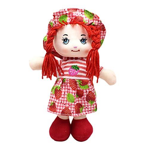 Daxoon 25CM Girl Doll Fruit Rock Muñeca de Trapo Suave con Sombrero para niños Regalo de cumpleaños de niña
