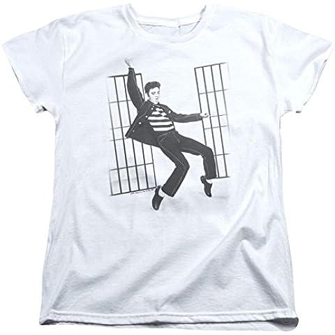 Elvis - Jailhouse Rock de la Mujer T-Shirt En Blanco