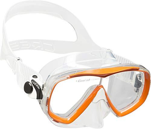 Cressi Sub S.p.A. Estrella Jr Mask Masque de Plongée Mixte Enfant, Transparent/Orange, Uni