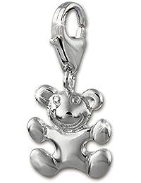 e053ffda1025 Sueño de plata 925  de ley Charm Teddy colgante para pulsera cadena  pendientes FC1006
