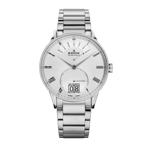 Edox Les Vauberts Silver Dial Stainless Steel Mens Watch 34006-3A-AR