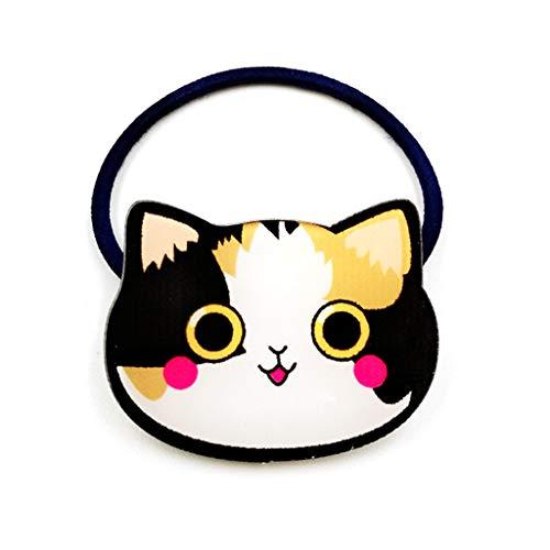 BulingLU 12 colores niñas Meow Cat banda goma Kawaii