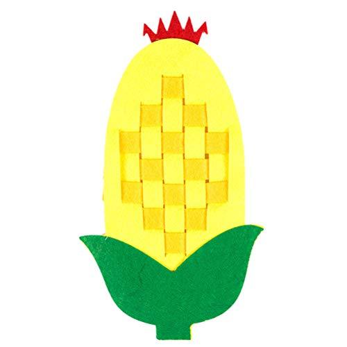 YeahiBaby Kinder Stricken Spielzeug DIY Obst Erdbeere Ananas Frühe Pädagogische Puzzle Spielzeug 6 Stücke