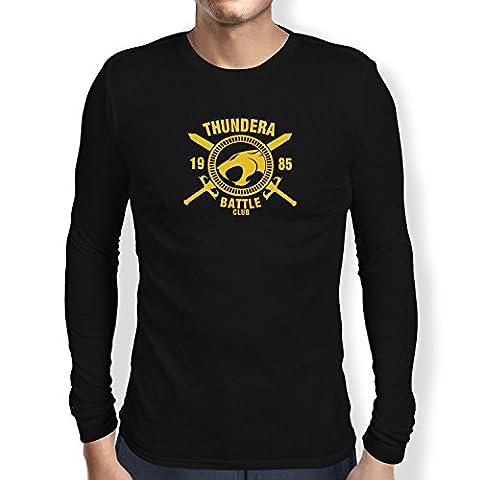 TEXLAB - Thundera Battle Club 1985 - Herren Langarm T-Shirt, Größe S, schwarz (He-man-kostüm Für Kinder)