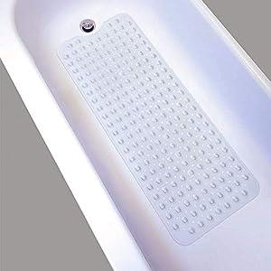Duschmatte,Badewanne Anti Rutsch Matte,Extra Lange Bad Saugnapf Schimmel,Waschmaschinenfest 100 x 40cm