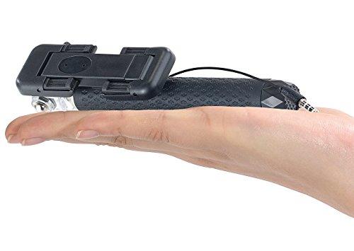 PEARL Selfiestab: Mini-Selfie-Stick für Smartphone & Action-Cam, ausziehbar 14-70 cm (Selfie Stick iPhone)