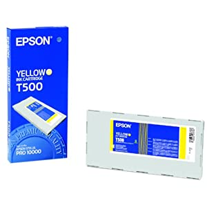 Epson T500 yellow dye ink print cartridge stylus Pro 10000 10600