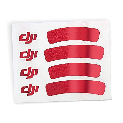 Preisvergleich Produktbild DJI Sticker Aufkleber Rot glänzend für DJI Phantom 3 III Standard Advanced Professinal