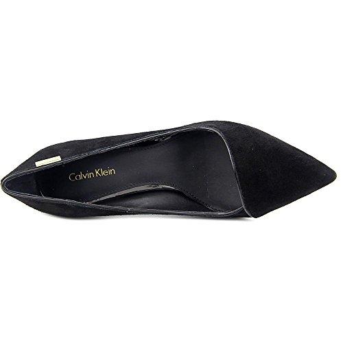 Calvin Klein Calida Damen Spitz Wildleder Stöckelschuhe Black