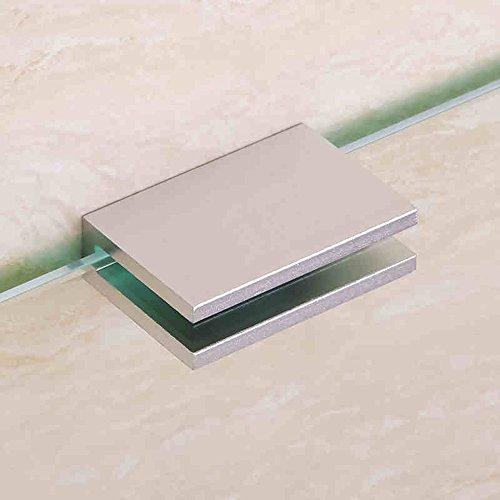 Estante de toalla Soporte de cristal de aluminio del espacio del almacenaje Estantes del cuarto de baño del cuarto de baño Clavija del metal de la tabla de la preparación (44 * 16 cm) (3.5 milímetros) Pared de baño