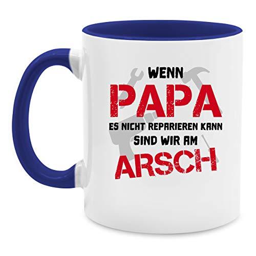 Vatertagsgeschenk Tasse - Wenn Papa es nicht reparieren kann sind wir am Arsch - Unisize - Hellblau - papa geschenke…