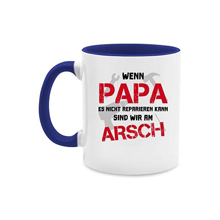 Vatertagsgeschenk Tasse - Wenn Papa es nicht reparieren kann sind wir am Arsch - Unisize - Schwarz - tasse papa - Q9061…