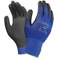 Ansell HyFlex 11-618-Guanti multiuso con manico maglia, nonché alla linea di demarcazione e all'abrasione, colore: blu (Confezione da 12 paia)