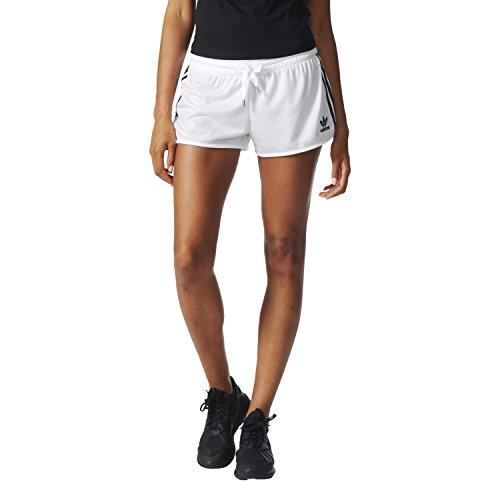 adidas Damen Loose 3S Shorts Kurze Hose, Weiß, 38 (Adidas Taille Shorts Elastische)