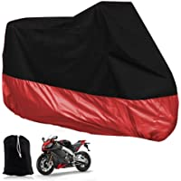 Motorbike Scooter Protective Cover Size XL 245 cm Black / Red