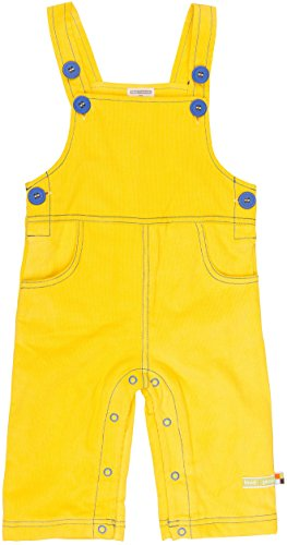 loud + proud Unisex Baby Latzhose Cord, Gelb (Honey Hon), 92 (Herstellergröße: 86/92)