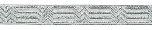 Ruther & Einenkel Borte Dekorationsband (Zick-Zack) 15 mm, alusilber/Aufmachung 5 m, Polyester, PE-Film, alu Silber 500 x 1.5 x 0.1 cm - Pe-uniformen