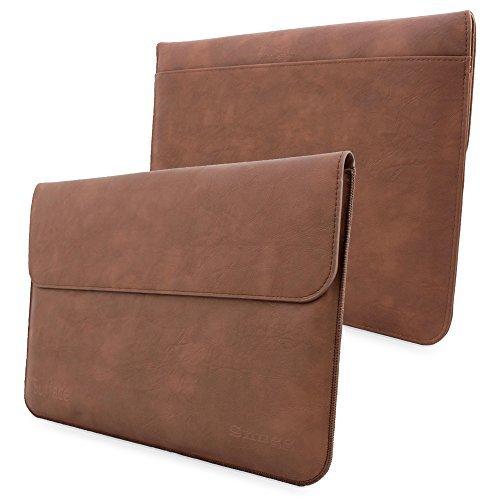 Snugg Microsoft Surface 1 & 2 Leder Hülle (Braun) für RT & PRO – hochqualitatives Case mit Kartenfach, Seitentasche und Fütterung aus Premium Nubuck-fasern.