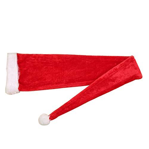 XIAOPIHAI 1,55 M Super Long Christmas Hat Xmas Party Kostüme Red & White Cap für - Kostüm Für White Christmas Party