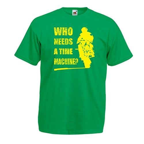 lepni.me T-Shirt da Uomo Abbigliamento Moto (X-Large Verde