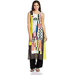 W for Woman Women's Straight Kurta (16AU15996-57836-16-WHITE)