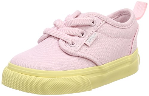 Vans Unisex Baby Atwood Slip-on Sneaker, Pink (Pop Outsole), 24 EU (Slip-ons, Kinder Vans)