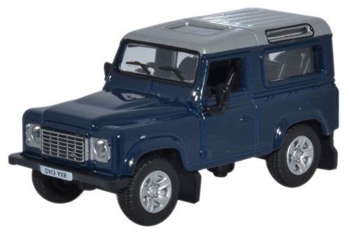oxford-diecast-76lrdf002-land-rover-defender-2013-tamar-blue
