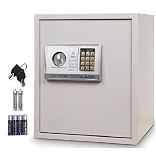 COSTWAY 54L Upgraded Digital Steel Safety Box, Safe Electronic Security Cabinet for Money, Cash Home Office