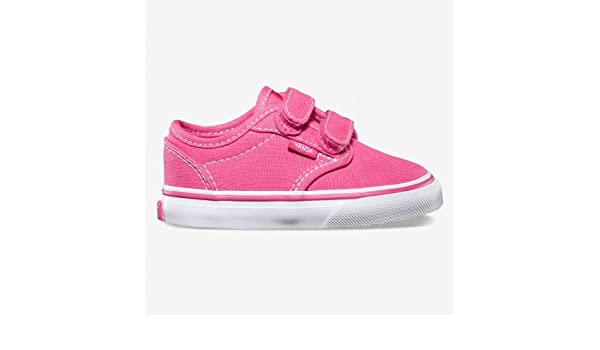 db5a799172 Vans Toddlers Pink Atwood Velcro Canvas Trainers (7UK   24EUR ...
