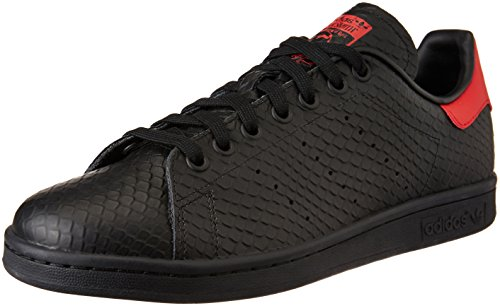 adidas Stan Smith, Scarpe da Ginnastica Basse Uomo, Nero (Cblack/Cblack/Scarle), 44 EU