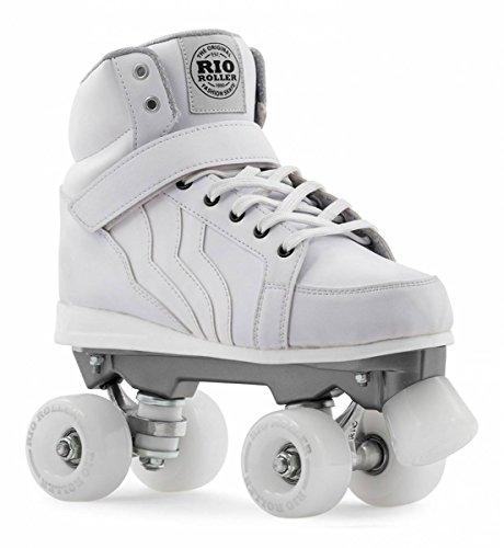 Rio Roller Kicks Quads Rollschuhe Disco Roller weiß white, 39.5