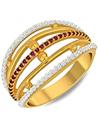 P.N.Gadgil Jewellers Lavanya Collection 22k (916) Yellow Gold Ring - B01M7P7IMA