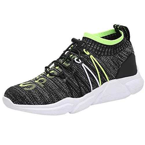 DDKK Schuhe für Damen und Herren, leicht, Rennsport, Polyester-Netz, Joggingschuhe, sportlich, atmungsaktiv, gestrickt US Size: 10.5 grün -