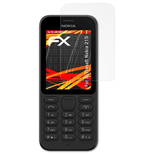 atFolix Schutzfolie kompatibel mit Microsoft Nokia 215 Bildschirmschutzfolie, HD-Entspiegelung FX Folie (3X)