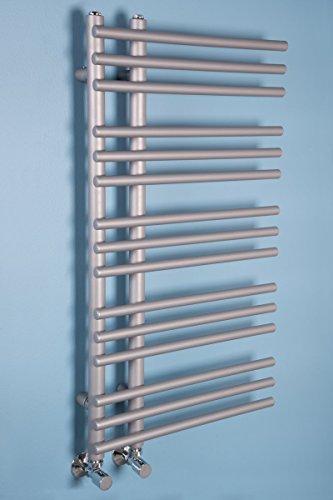 Wärmehaus Designer Handtuchheizkörper Badheizkörper 900x500mm Silber