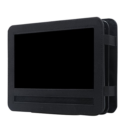 Auto KFZ Kopfstützenhalterung Kopfstütze Halterung, RUISIKIOU Auto Kopfstützenhalterung für Drehgelenk & Flip Tragbarer DVD Player KFZ Kopfstütze Halterung Gehäuse (9-9.5 Zoll ) - 3