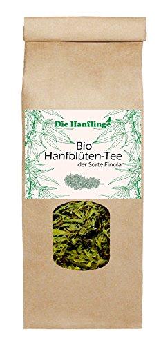 *BIO Hanftee ganze Blüten 25g Sorte Finola Hanfblüten – Hanfblütentee – aus Deutschland direkt vom Bauern*