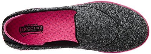Skechers Go Flex, Baskets Basses Femme Noir (Noir/Rose)