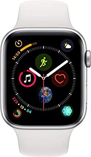 Apple Watch Series 4-40mm Space Silver Aluminum Case with White Sport Band, GPS + Cellular, watchOS 5
