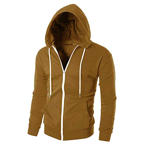 DAY.LIN Hommes Charme Manteau Slim Fit À Manches Longues De Mode Zipper À  Capuche ed2db63930a