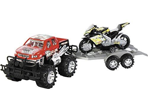 MODELMOVIL Vehículo Surtido Todo Terreno con Remolque y Moto 52x15x15cm
