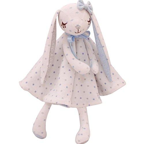 Tery Comforter di Sicurezza Comfort per Neonati Baby Peluche Coniglio Giocattolo Mano Puppet Consolatore Giocattoli Soft Hand Towel_Blue