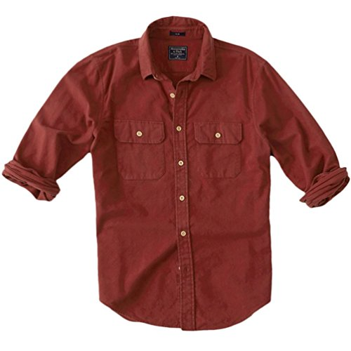 abercrombie-homme-woven-slim-fit-chemise-casual-longue-taille-large-rust-624880683