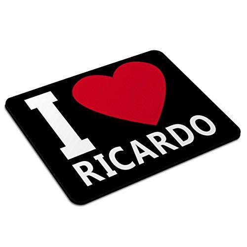 Mousepad mit Namen Ricardo personalisiert - Motiv I Love - Namensmousepad, personalisiertes Mauspad, Gaming-Pad, Maus-Unterlage, Mausmatte