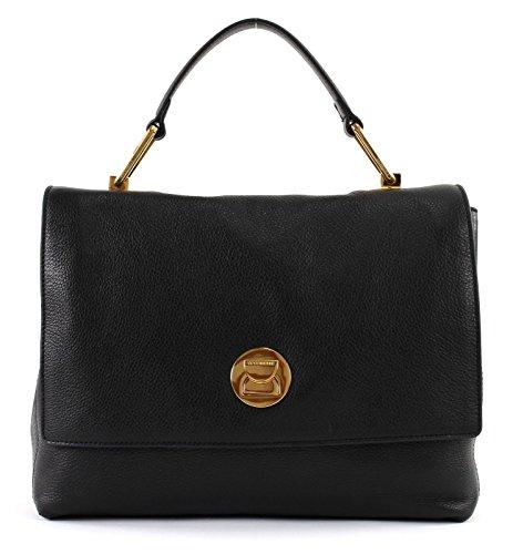 81570ba13167 COCCINELLE LIYA DOUBLE HANDLE BAG BD0180101-001 NOIR/NOIR