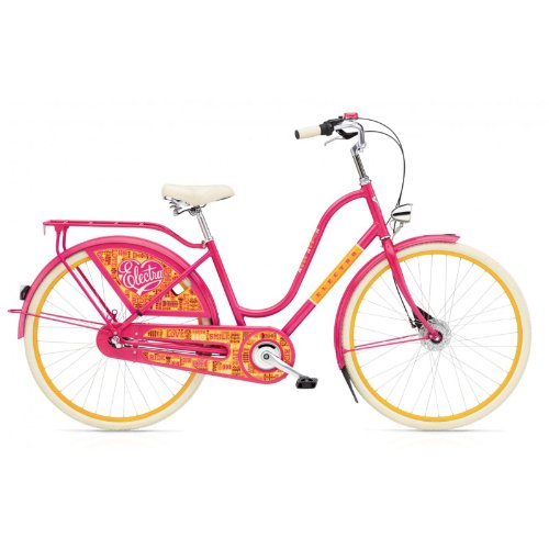Electra Amsterdam Fashion 3i Joyride Pink Ladies Designer Hollandfahrrad, 73264011115